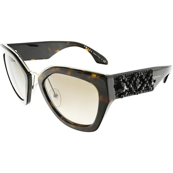 88235bd2b Prada Accessories | Womens Brown Geometric Sunglasses New | Poshmark